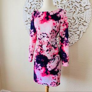 Gianni Bini Dresses - {Gianni Bini} Watercolor Floral Long Sleeve Dress